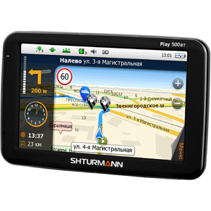 Автомобильный GPS-навигатор Shturmann Play 500 BT Black + карты Shturmann