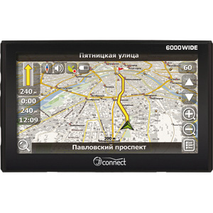 Автомобильный GPS-навигатор JJ-Connect AutoNavigator 6000 WIDE + карты Навител Россия