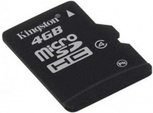 Kingston  MicroSD 4Gb Class 4 (карта памяти)