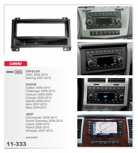 Переходная рамка Carav 11333 (2DIN JEEP Grand Cherokee 11-13/ DODGE Durango 11-13)